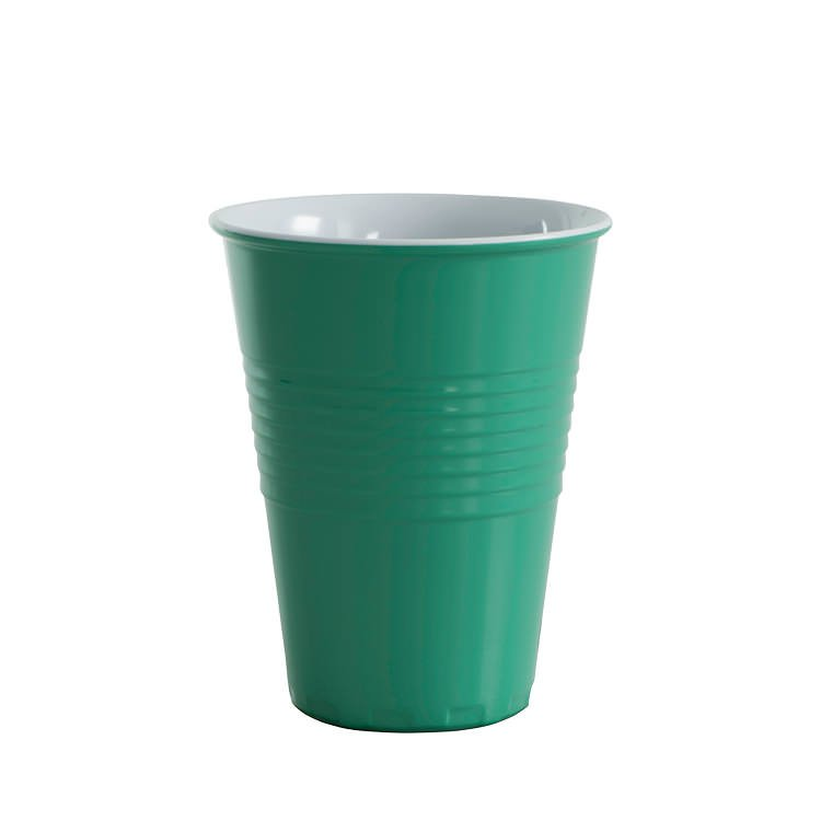 Avanti Miami Melamine Two Tone Cup Forest Green 400ml