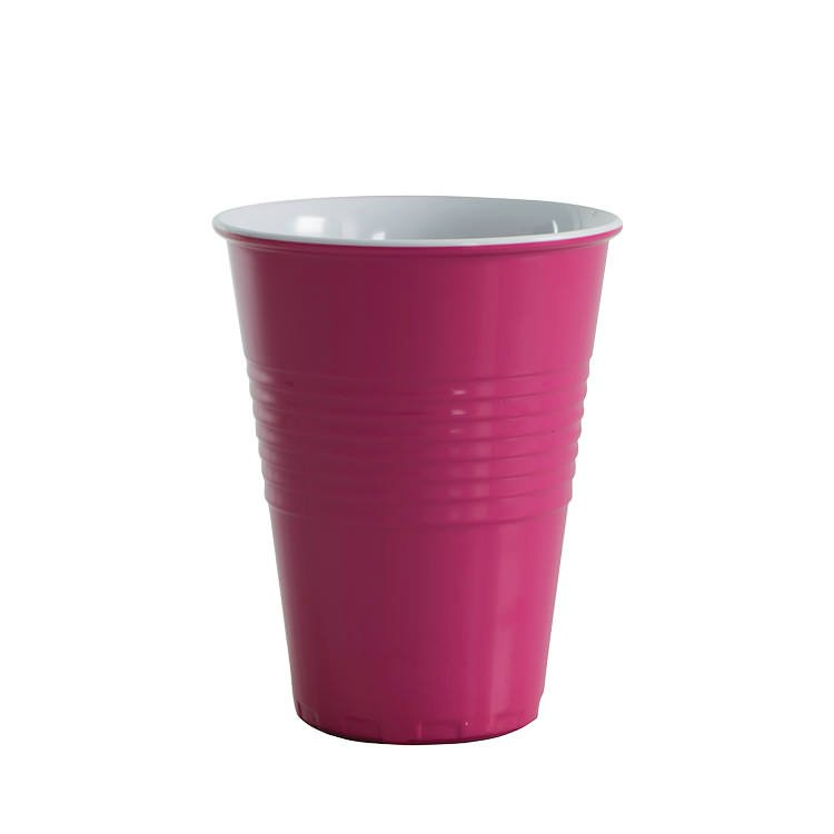 Avanti Miami Melamine Two Tone Cup Fuschia Pink 400ml