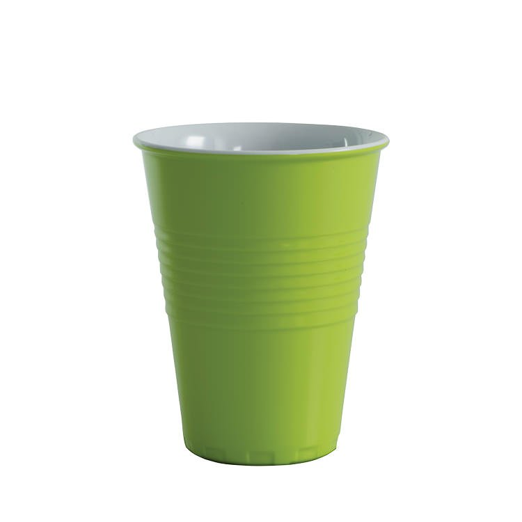 Avanti Miami Melamine Two Tone Cup Lime Green 400ml