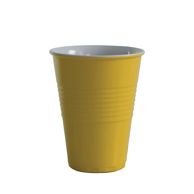 Avanti Miami Melamine Two Tone Cup Yellow 400ml