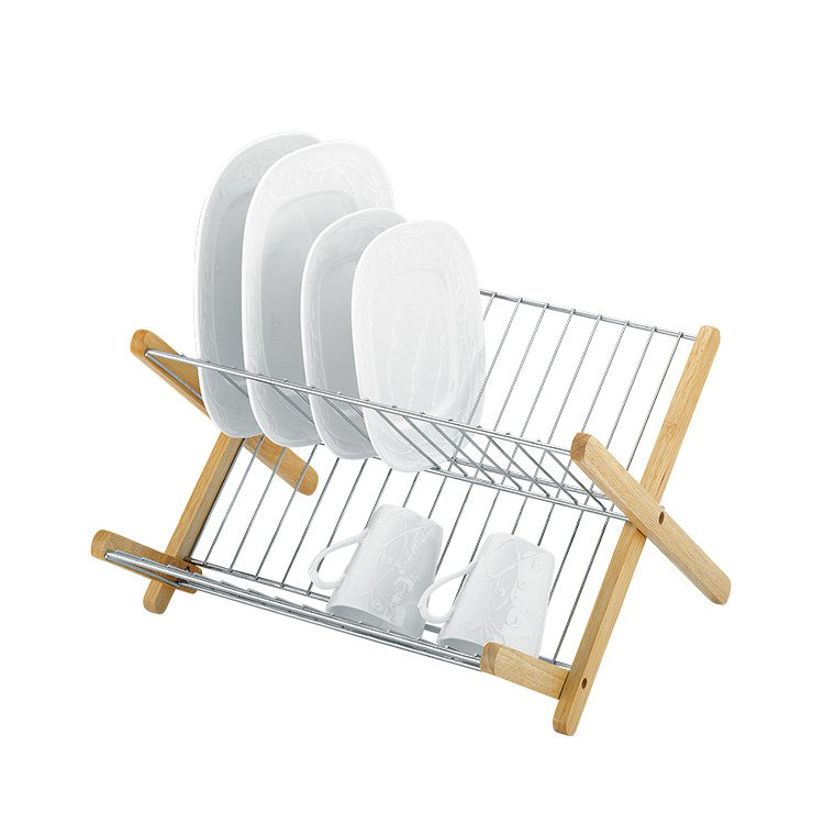 Avanti Monterey Chromed Steel & Timber Dish Rack