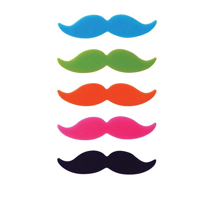Avanti Moustache Glass Markers Set of 8