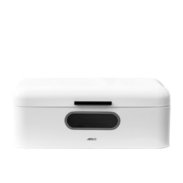 Avanti Retro Bread Bin with Window 42x22.5x16cm White