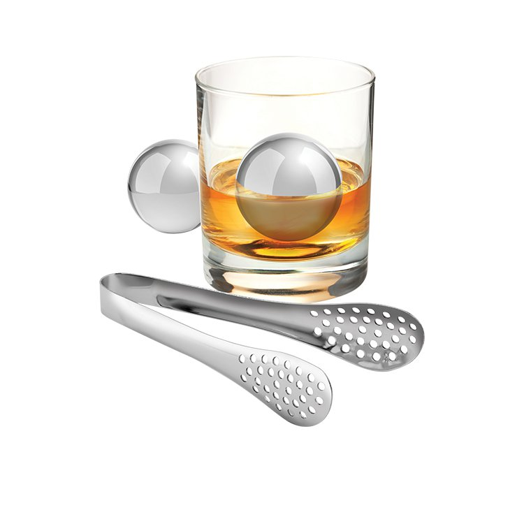 Avanti Stainless Steel Ice Ball and Tongs Set