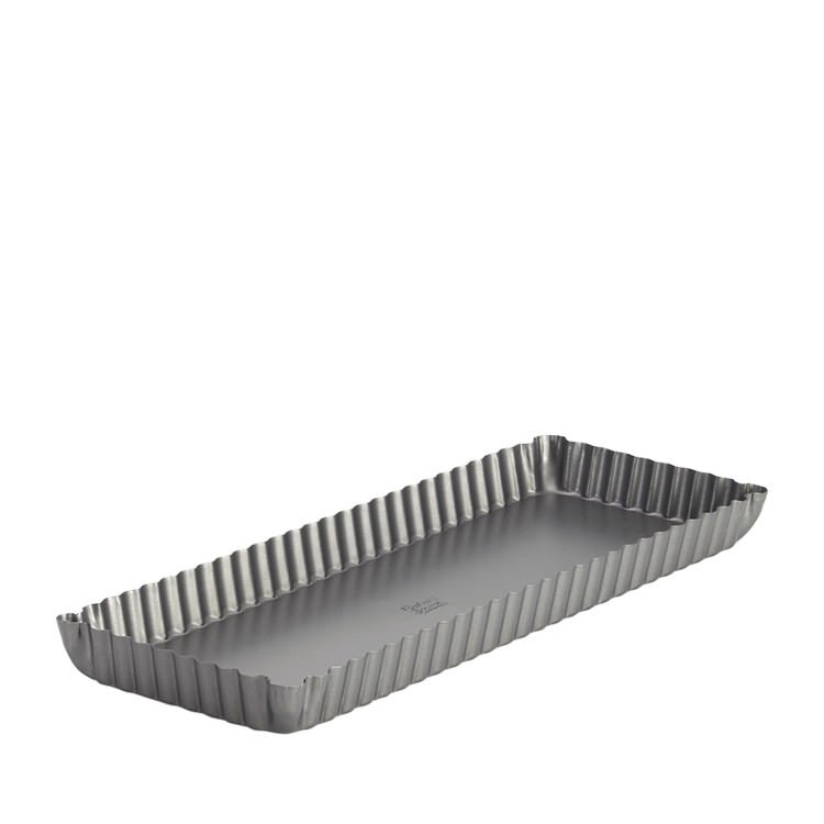 Baker's Secret Loose Bottom Rectangular Quiche/Tart Pan 35x13cm
