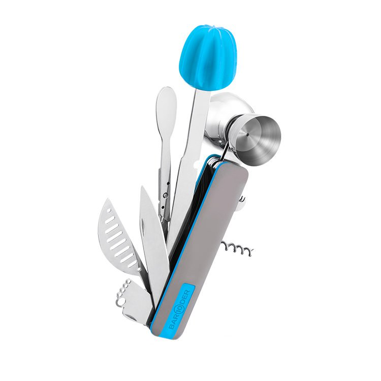 Bar10Der Ultimate 10-in-One Bar Tool - Blue