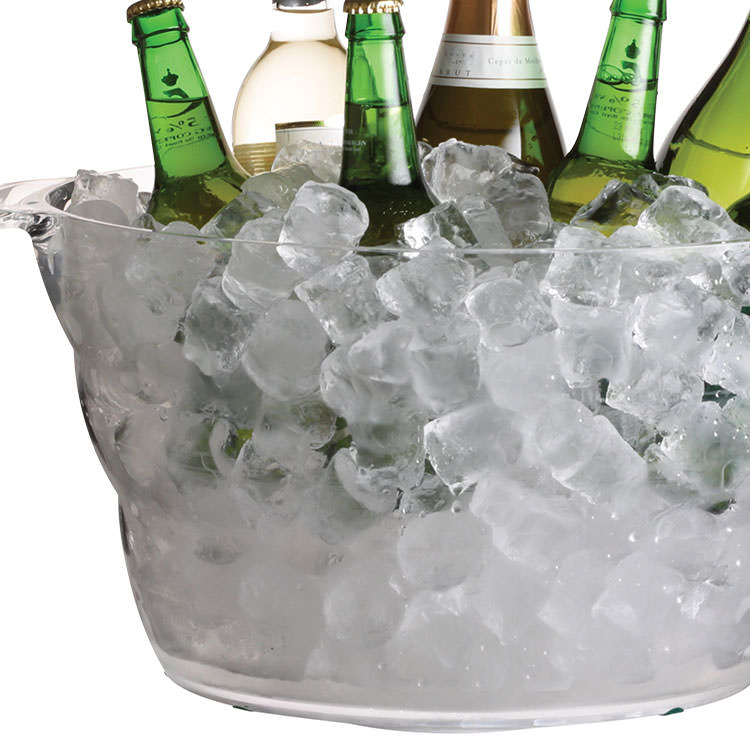 BarCraft Large Oval Drinks Pail/Cooler Acrylic