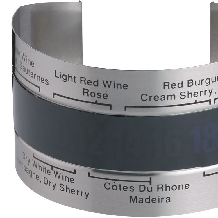BarCraft Wine Bottle Thermometer Sleeve