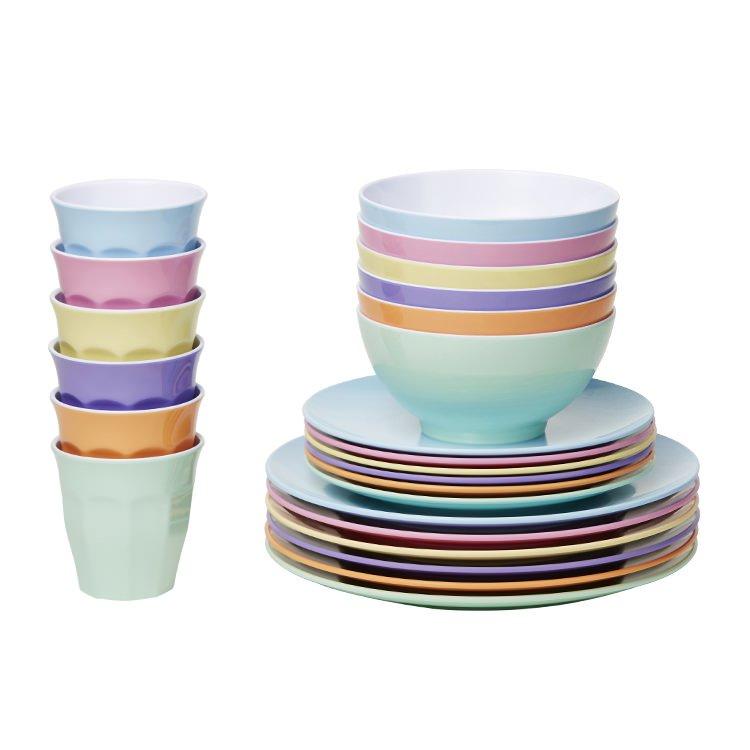 Barel Classic Melamine Dinner Set 24pc Dream  sc 1 st  Kitchen Warehouse & Kids Dinner Sets - Kitchen Warehouse Australia