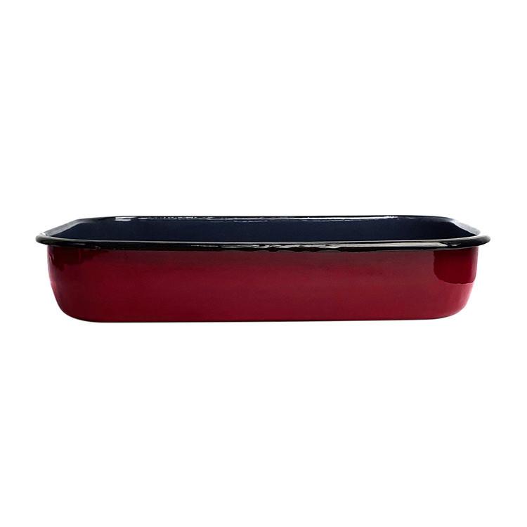 Bialetti Enamel Roasting Pan 40x25x7.5cm Red