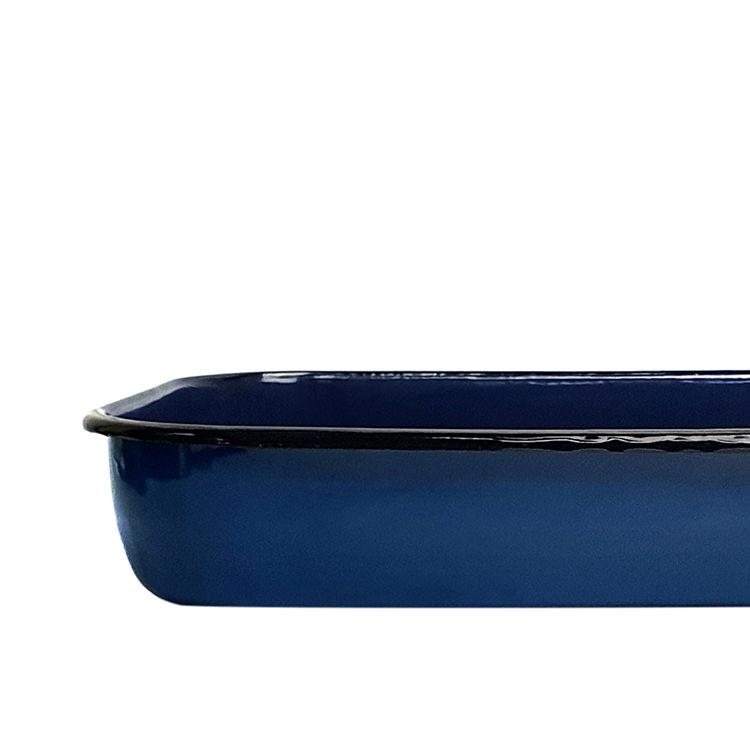 Bialetti Enamel Roasting Pan 40x25x7.5cm Blue
