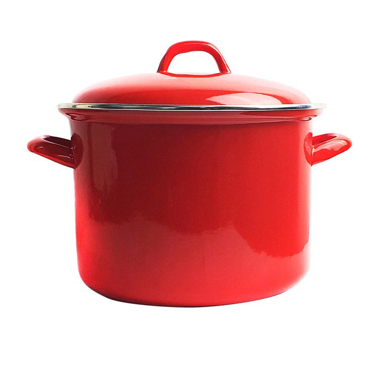 Bialetti Enamel Stockpot 24cm - 7.5L Red