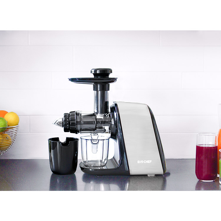 BioChef Axis Compact Cold Press Juicer Silver