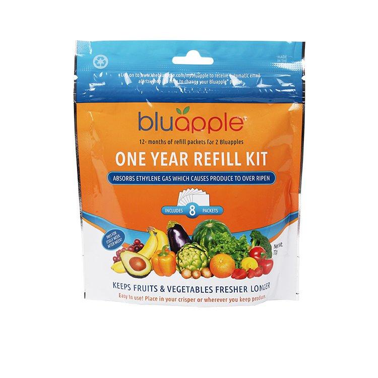 Bluapple Classic Fruit & Vegetable Saver One Year Satchel Refill Kit