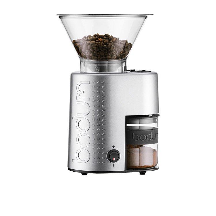 Bodum Bistro Burr Coffee Grinder Aluminium Brushed Silver