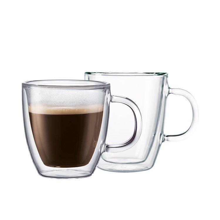 Bodum Bistro Double Wall Mug 300ml Set of 2