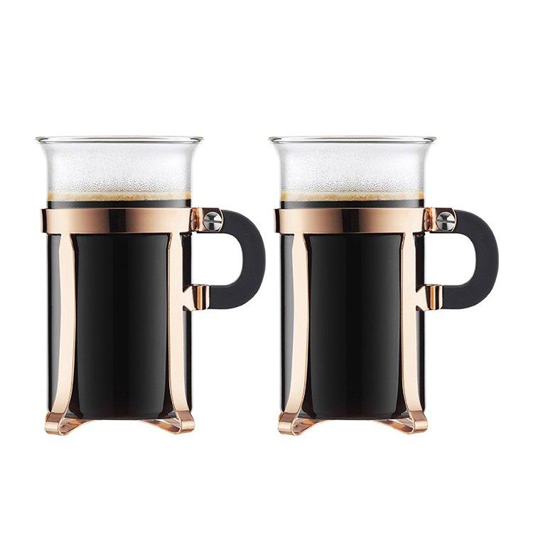 Bodum Chambord Glass 300ml Set of 2 Classic Copper