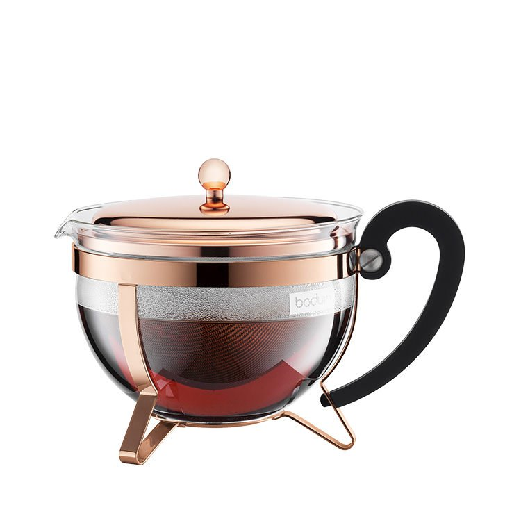 Bodum Chambord Tea Pot 1.5L Classic Copper