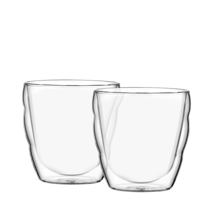 Bodum Pilatus 2pc Double Wall Glass Set 80ml