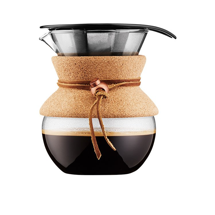 Bodum Pour Over Coffee Maker 4 Cup Cork