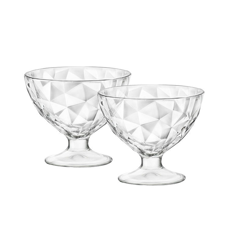 Bormioli Rocco Diamond 2pc Dessert Bowl Set 360ml