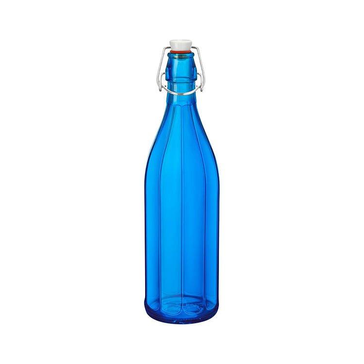 Bormioli Rocco Oxford Bottle with Top 1L Dark Blue