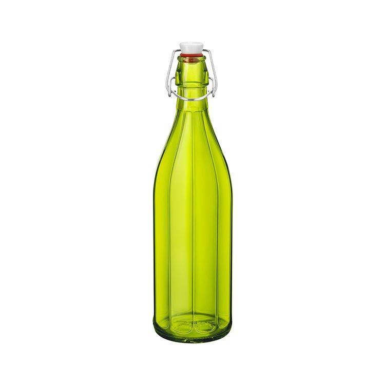 Bormioli Rocco Oxford Bottle with Top 1L Green