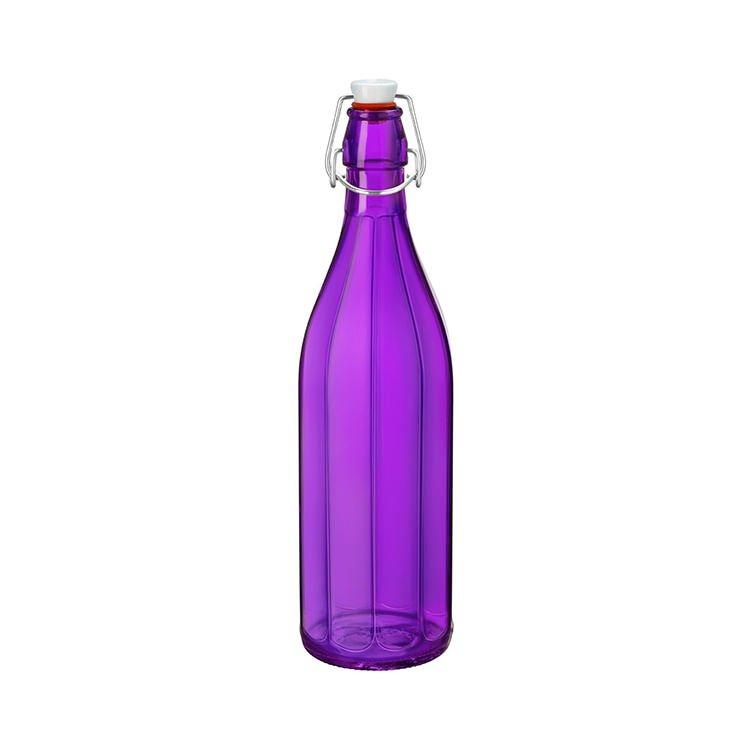 Bormioli Rocco Oxford Bottle with Top 1L Purple