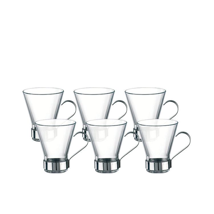 Bormioli Rocco Ypsilon 6pc Cappuccino Cup Set 220ml