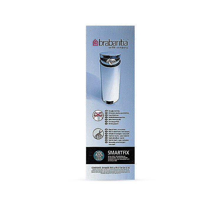 Brabantia Bin Liner 20 Litre Slimline 20 Bags White