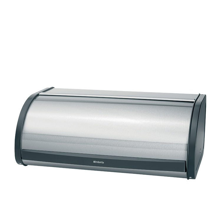 Brabantia Bread Bin Roll Top Large Matte Steel