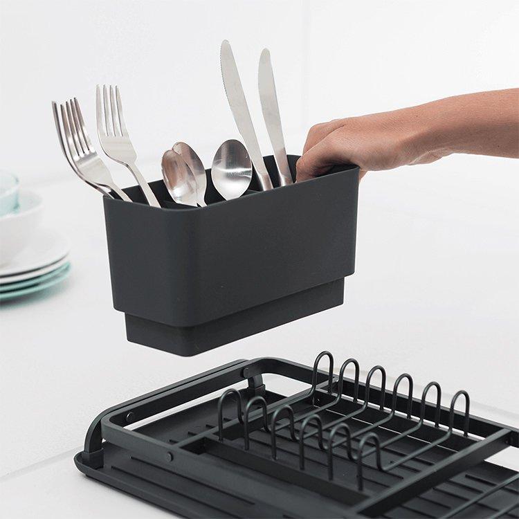 Brabantia Compact Dish Drying Rack Dark Grey image #4