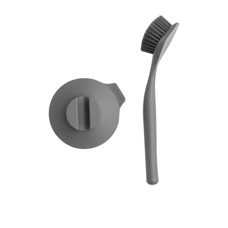 Brabantia Dish Brush with Suction Holder Dark Grey