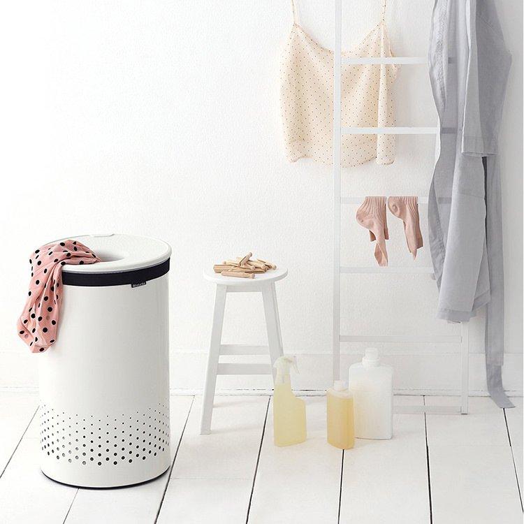 Brabantia Laundry Bin 60L White