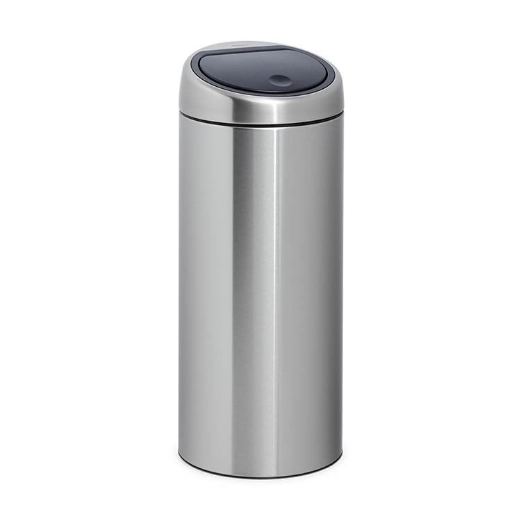 brabantia matt steel touch bin 30l on sale now. Black Bedroom Furniture Sets. Home Design Ideas