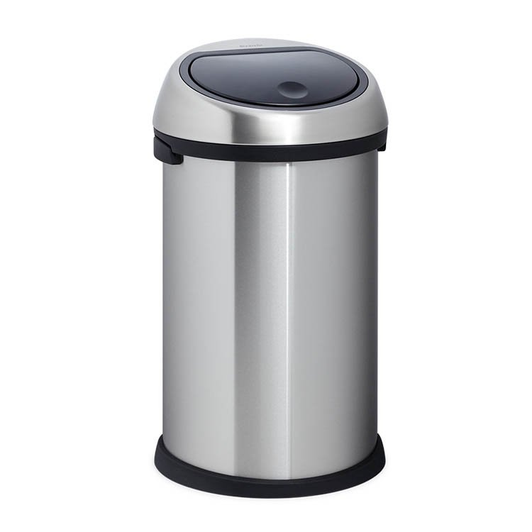 brabantia matt steel touch bin 50l on sale now. Black Bedroom Furniture Sets. Home Design Ideas