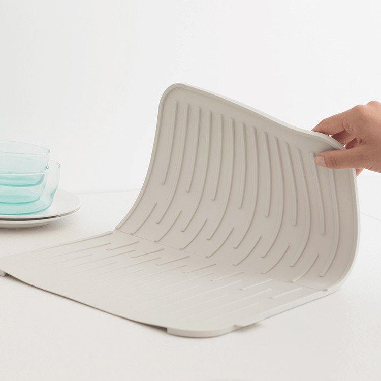Brabantia Silicone Dish Drying Mat Light Grey