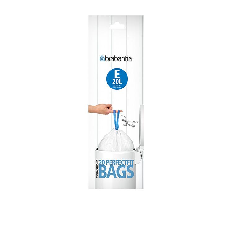 Brabantia Bin Liner 20 Litre 20 Bags White