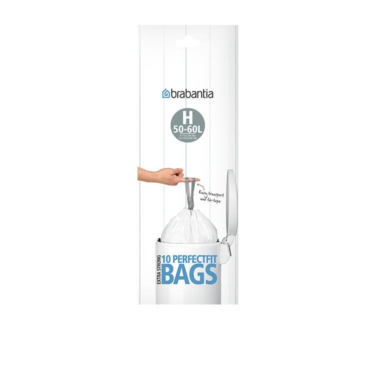 Brabantia Bin Liner 50/60 Litre 10 Bags White