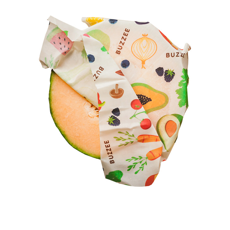 Buzzee Organic Beeswax Wraps Harvest 4 Pack image #2