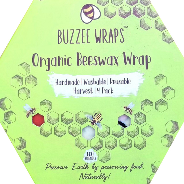 Buzzee Organic Beeswax Wraps Harvest 4 Pack image #4