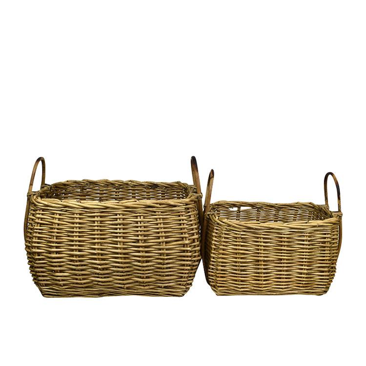 Casa Regalo Lika Rectangular Willow Basket Large 51x38cm