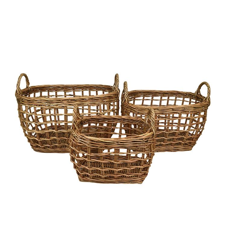 Casa Regalo Lika Rectangular Willow Basket Medium 40x29cm