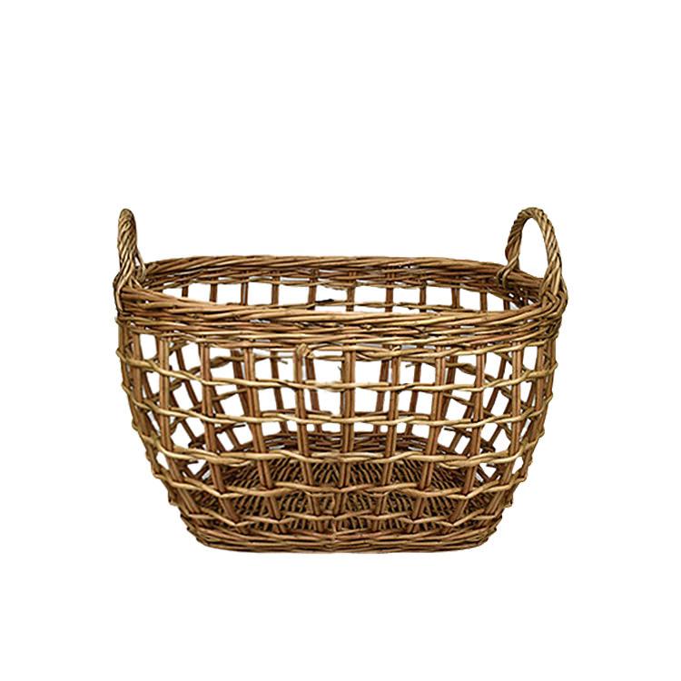 Casa Regalo Lika Rectangular Willow Basket Small 30x23cm