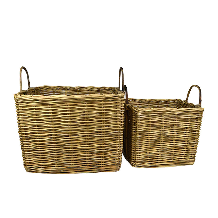 Casa Regalo Lika Square Willow Basket Large 48x44cm