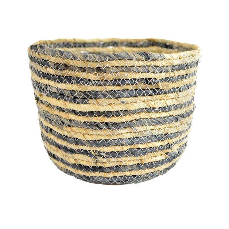 Casa Regalo Maize Round Basket Medium 21x15cm Navy