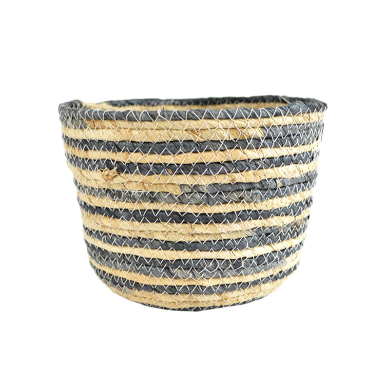 Casa Regalo Maize Round Basket Small 19x14cm Navy