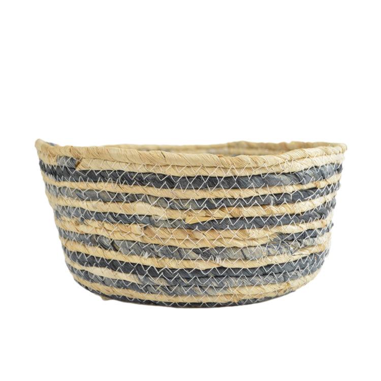 Casa Regalo Maize Oval Basket Medium 27x22x11cm Navy