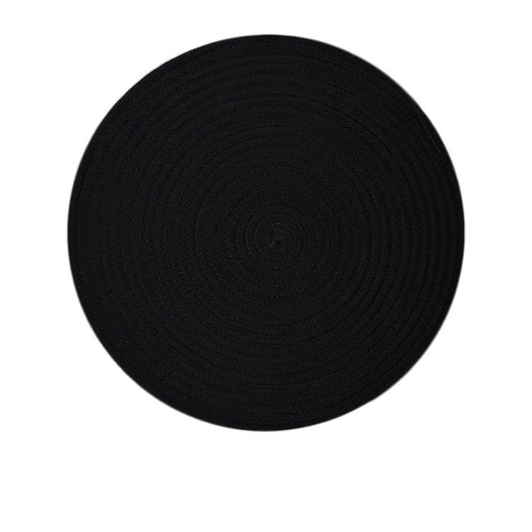 Casa Regalo Round Placemat 38cm Black