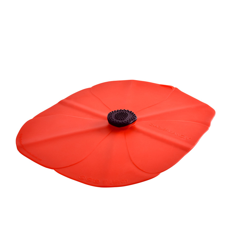 Charles Viancin Poppy Oblong Silicone Lid 41x31cm Red